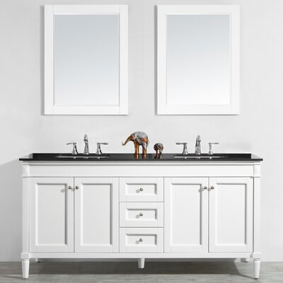 Millfield 72 Bathroom Vanity Set with Mirror Base Finish: White