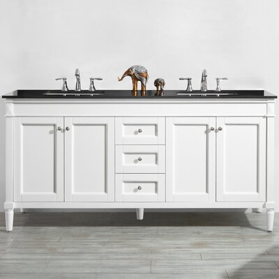 Millfield 72 Bathroom Vanity Set Base Finish: White