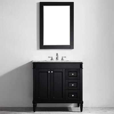 Millfield 36 Single Vanity Set with Mirror Base Finish: Espresso