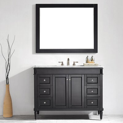 Millfield 48 Single Vanity Set with Mirror Base Finish: Espresso