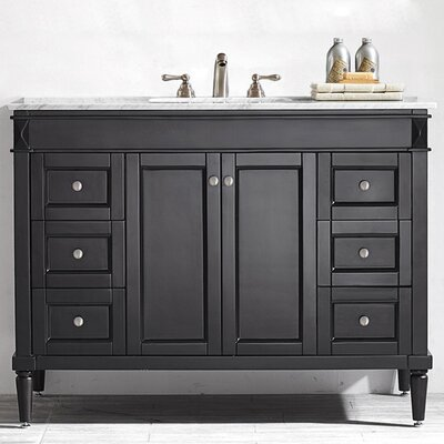 Millfield 48 Single Bathroom Vanity Set Base Finish: Espresso