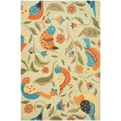 Alston Blossom Bird Sage Rug Rug Size: Rectangle 5 x 8
