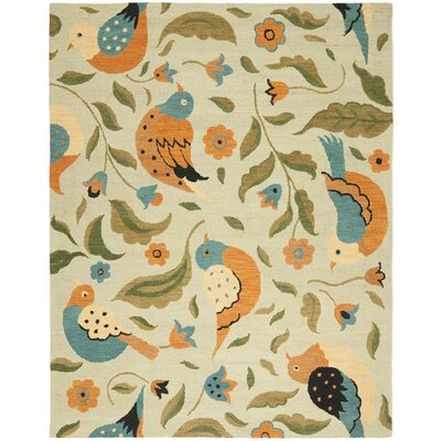 Alston Blossom Bird Sage Rug Rug Size: Rectangle 8 x 10