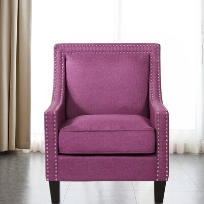 Lyn Solid Wood Armchair Upholstery: Purple