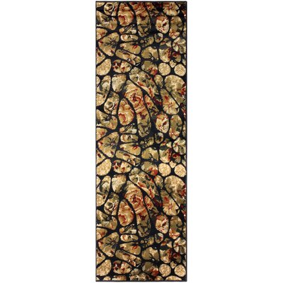Colena Mosaic Tile Beige/Green Area Rug Rug Size: Runner 27 x 8