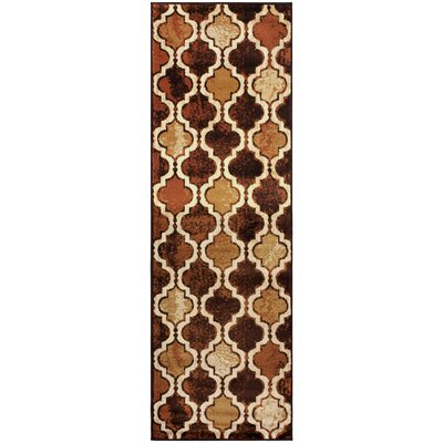 Colena Coffee Area Rug Rug Size: Runner 27 x 8