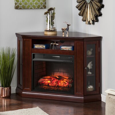 Harger Convertible 48 TV Stand with Fireplace Finish: Cherry