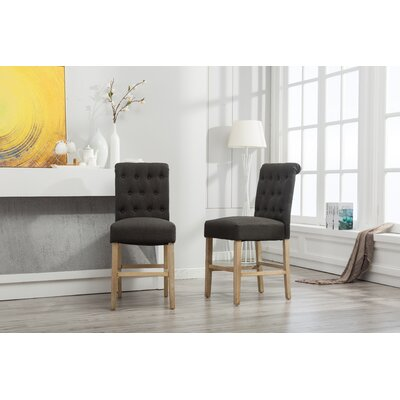 Claro Upholstered Dining Chair Upholstery Color: Charcoal