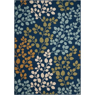 Brockenhurst Navy Indoor/Outdoor Area Rug Rug Size: Rectangle 53 x 75