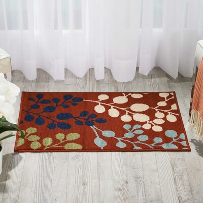 Brockenhurst Rust Indoor/Outdoor Area Rug Rug Size: Rectangle 93 x 129