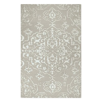 Brionna Hand-Woven Wool Beige/Ivory Area Rug Rug Size: 9 x 12