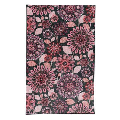 Fedna Pink/Gray Area Rug Rug Size: Rectangle 8 x 10