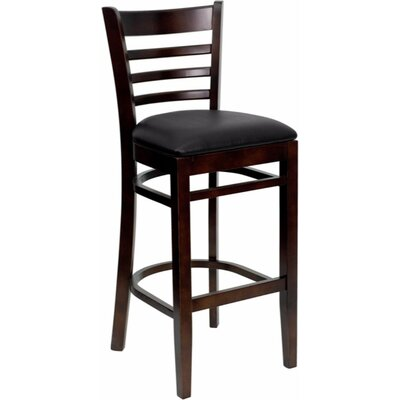 Dryden 29.25 Bar Stool Upholstery: Black