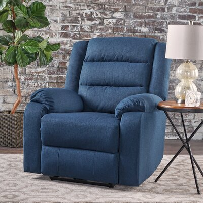 Taos Mesa Power Recliner Color: Navy Blue