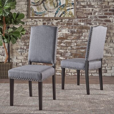 Sona Upholstered Dining Chair Upholstery Color: Gray