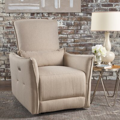 Helaine Fabric Power Recliner Upholstery: Wheat