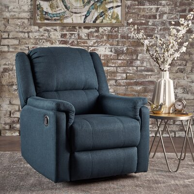 Neoma Manual Recliner Color: Navy Blue