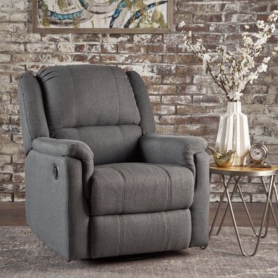 Neoma Manual Recliner Color: Charcoal