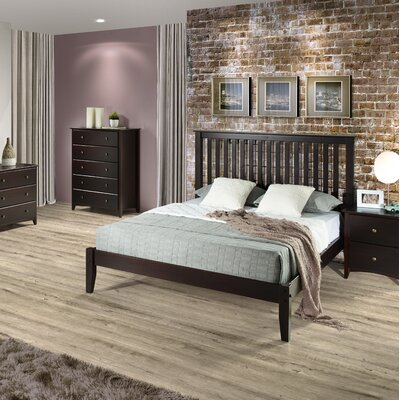 West Highland Platform Bed Size: Full/Double, Color: Cappuccino
