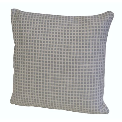 Aazad Throw Pillow Color: Gray/Ivory, Size: 17 x 17