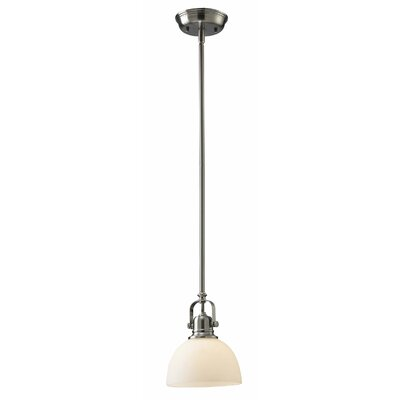 Abernathy 1-Light Pendant Finish: Brushed Nickel, Size: 59.25 H x 7 W
