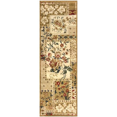 Colena Flower Patch Brown Area Rug Rug Size: Runner 27 x 8
