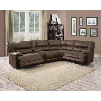 Criselda Leather Reclining Sectional