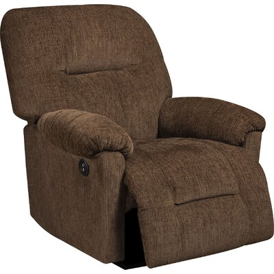 Stovall Manual Recliner Upholstery: Perth Chocolate