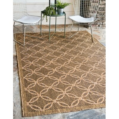 Brayton Light Brown Outdoor Area Rug Rug Size: Rectangle 6 x 9