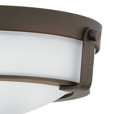 Raevon 1-Light Flush Mount Size: 4.5 H x 13 W