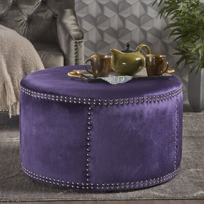 Loree Cocktail Ottoman Upholstery: Plum