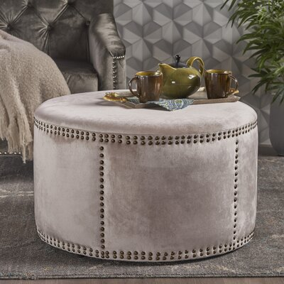 Loree Cocktail Ottoman Upholstery: Champagne