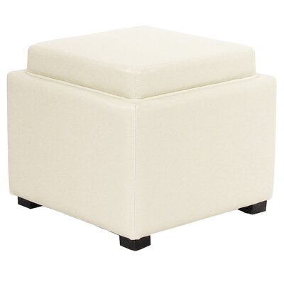 Jeddo Leather Square Ottoman Upholstery: Beige