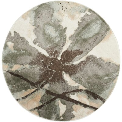 Perrysburg Ivory Area Rug Rug Size: Round 710
