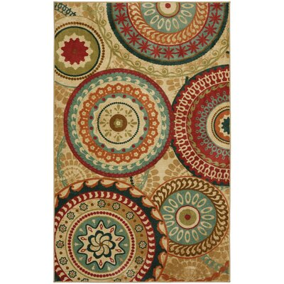 Chesterfield Brown/Red Area Rug Rug Size: Rectangle 5 x 8