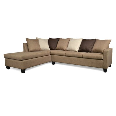 Rossa Sectional Upholstery: Jitterbug Pecan / Jitterbug Cocoa / Oscar Linen