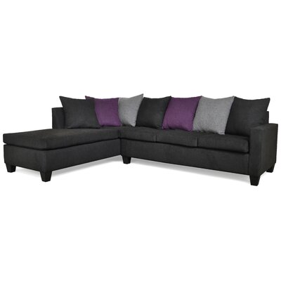 Rossa Sectional Upholstery: Due Black / Due Gray / Due Eggplant