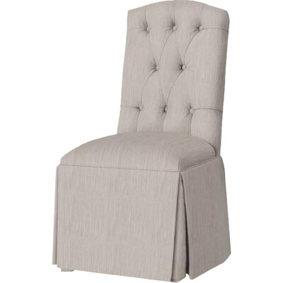 Pearce Diamond Tufted Skirted Side Chair Upholstery: Stone