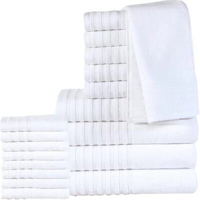 18 Piece Towel Set Color: White
