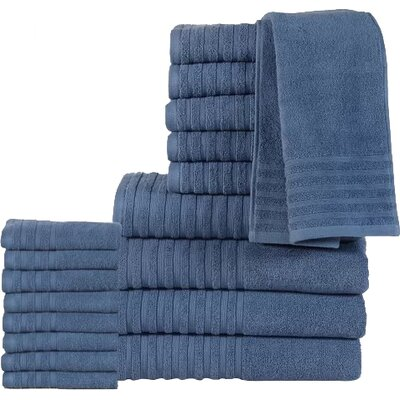 18 Piece Towel Set Color: Bluestone