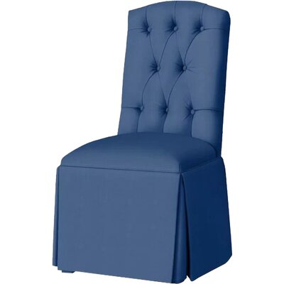 Pearce Diamond Tufted Skirted Side Chair Upholstery: Sapphire