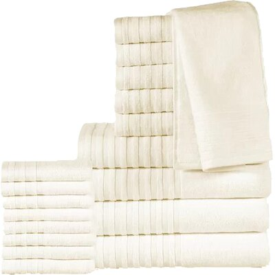 18 Piece Towel Set Color: Ivory