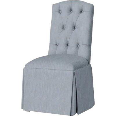 Pearce Diamond Tufted Skirted Side Chair Upholstery: Denim
