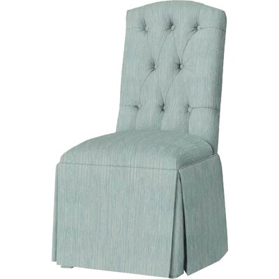 Pearce Diamond Tufted Skirted Side Chair Upholstery: Bahama