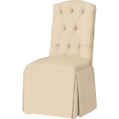Pearce Diamond Tufted Skirted Side Chair Upholstery: Linen
