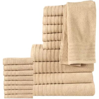 18 Piece Towel Set Color: Beige