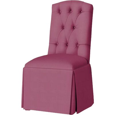 Pearce Diamond Tufted Skirted Side Chair Upholstery: Fuchsia