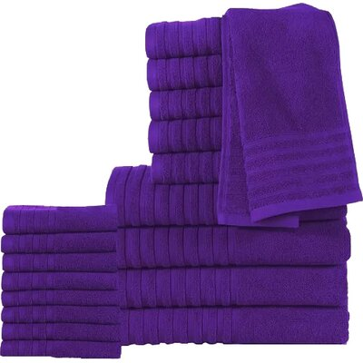 18 Piece Towel Set Color: Royal Purple