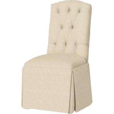 Pearce Diamond Tufted Skirted Side Chair Upholstery: Cream