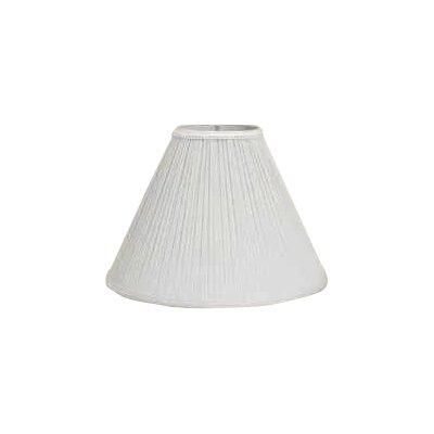Mushroom Pleat 18 Linen Empire Lamp Shade Color: White